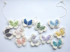 make a pantone butterfly garland - by bear loves dove