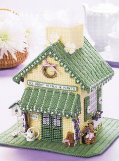 Image detail for -VANITY Tray & FLOWER Shop Plastic Canvas Tissue Topper by M2Hawk