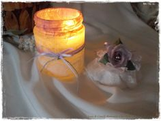 Porta Candela Giorno&Notte...di giorno un Romantico barattolo di Notte una calda atmosfera.