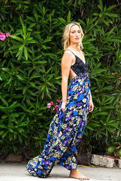San Sebastian Floral Maxi Dress