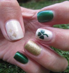 nail designs for march | st patricks day nail design sally hansen emerald city