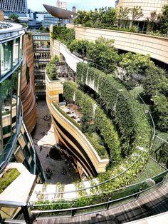 Namba Parks. Osaka Japan. developed by Jon Jerde of The Jerde Partnership
