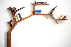 Branched - The book shelf - Only in Delhi, NCR - Shelves & Racks Artistic Furniture Home Décor Kids Room Bookshelves, Tree Bookshelf, Bookshelf Design, Shelves In Bedroom, Wall Mounted Shelves, Book Shelves, Wooden Shelf Design, Shelf Furniture, Furniture Ideas