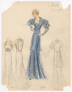 - Costume Institute - Digital Collections from The Metropolitan Museum of Art Libraries 1930s Fashion, Vintage Fashion, Vintage Style, Costume Institute, Print Pictures, Sketches, Costumes, Bergdorf Goodman, Fashion Illustrations