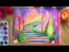 FANTASY PAINTING 🎨 STEP BY STEP ACRYLIC PAINTING