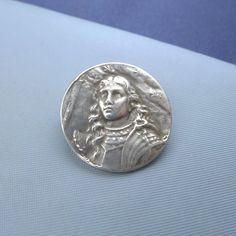 Joan of Arc brooch. Sterling, front. (US $87)