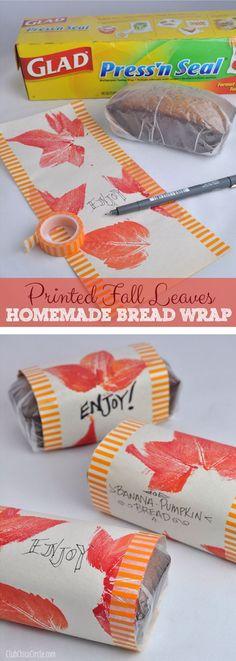 Pumpkin Banana Bread Homemade Fall Wrapping paper craft