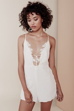 Want. I think my boobs are too big for this tho :-/ GARDEN ISLE ROMPER – For Love & Lemons