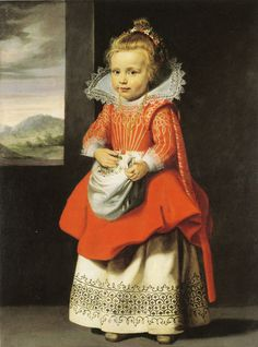 "Cornelis de Vos, Portrait of a girl ""Magdalena de Vos"",  c. 1623-24 - The Duke of Devonshire and the Chatsworth House Trust, Bakewell"