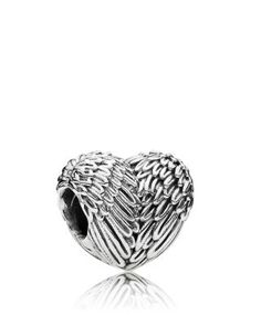 PANDORA Charm - Sterling Silver Angelic Feathers, Moments Collection