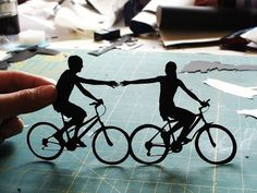 paper cut silhouettes by Joe Bagley...spectacular and beautiful!