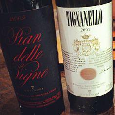 Pian delle Vigne2005 & Tignanello 2001 GRAZIE @AntinoryFamily