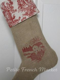 burlap and toile stockings