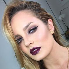 This dramatic plum look. | 19 Chloe Morello Looks You'll Want To Try Immediately