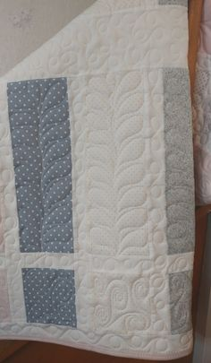 Pink Floral Baby Quilt Personalized Baby by TheQuirkyQuiltr