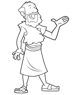 Elijah And The Prophets Of Baal- Coloring Page from ...