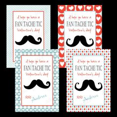 Personalized Kid Valentine Cards by CrowHouseDesigns