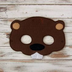Beaver Mask  Woodland Animal Felt Mask  by AnnsCraftHouse on Etsy