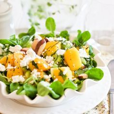 Mango Celery and Goat Cheese Salad   by Sonia! The Healthy Foodie
