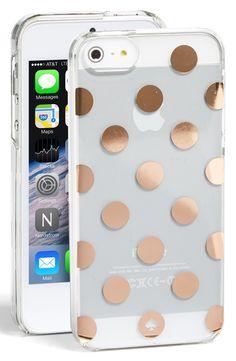 Cute gold poka dot iphone case