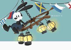 Epic Mickey, Oswald The Lucky Rabbit, Disney Drawings, Disney Pixar, Comic Art, Mickey Mouse, Cartoon, Comics, Scary Art