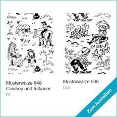 Wandstempel mit Pferden / Pferde / Cowboy / Indianer ... wall decor rollers with horses