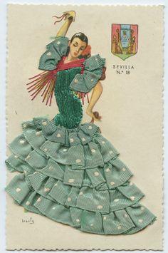 1960s Flamenco postcard | eBay