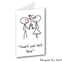 Printable Valentine Card Love Card Pdf Valentines by TeoldDesign