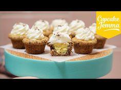Cupcakes de cookie de gotas de chocolate