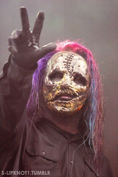 When I see this mask the song duality instantly pops into my mind!! :)
