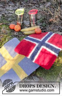 DROPS Extra - Strikket og tovet sitteunderlag med dominoruter i DROPS Eskimo Knitting Patterns Free, Free Knitting, Free Pattern, Crochet Patterns, Drops Design, Knitted Afghans, Knit Dishcloth, Picnic Blanket, Outdoor Blanket