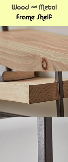 Wooden & Metallic Body Shelf - #metallic #shelf #wooden Metal Shelves, Wall Shelves, Metallic Bodies, Wall Brackets, A Shelf, Room Decor, Pure Products, Decoration, Wood