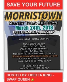 Youre never free until youre financially free. Super excited to help you change your life financially. Get ready to learn how to stack your coins. Meet me here. Rsvp odettaking.com/upcoming-events - facebook.com/rlwonderland