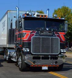 Big Rig Trucks, Semi Trucks, Lifted Trucks, Cool Trucks, Model Truck Kits, Truck Transport, Freightliner Trucks, Trailers, Childhood Tv Shows