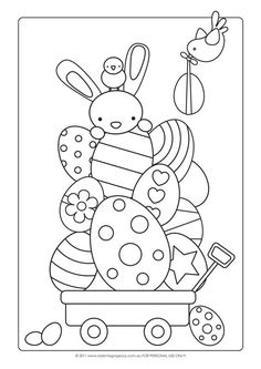 Easter Craft Ideas – Colouring Page – I always loved coloring Easter Eggs (in coloring books). 😀 Make your world more colorful with free printable coloring pages from italks. Our free coloring pages for adults and kids. Easter Bunny Colouring, Bunny Coloring Pages, Colouring Pages, Printable Coloring Pages, Coloring Books, Easter Coloring Sheets, Colouring Sheets, Kids Coloring, Coloring Pages For Kids