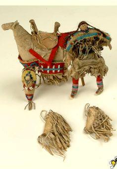 Blackfoot doll and horse.  Kansas City Mus  ac