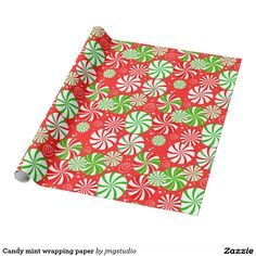 Candy mint wrapping paper great for Christmas wrapping birthday party his or her party cute, fun, cartoon design, home, craft idea, zazzle store, holiday,