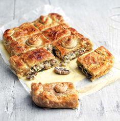 Μανιταρόπιτα με σφολιάτα | Συνταγή | Argiro.gr Ratatouille, Quiche, French Toast, Breakfast, Recipes, Pastries, Food, Instagram, Gastronomia