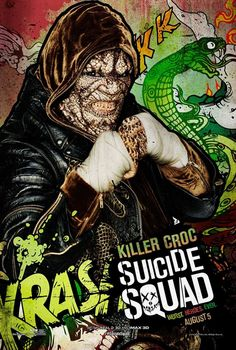 Suicide Squad posters : Adewale Akinnuoye-Agbaje est Killer Croc