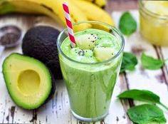 [Lean Meals] Shake Up Your Diet With 30 Superfood Protein Smoothie Recipes Under 300 Calories Breakfast Smoothies, Smoothie Drinks, Healthy Smoothies, Healthy Drinks, Healthy Snacks, Healthy Eating, Healthy Recipes, Healthy Fats, Avocado Smoothie