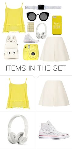 """""""Yellow and Cream"""" by springodigbo ❤ liked on Polyvore featuring art"""