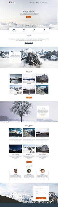 Kuro Creative HTML Template, Creative