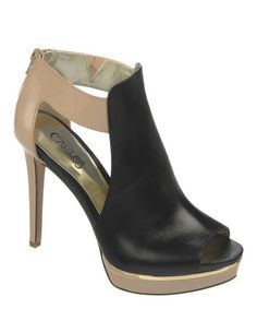 Black Leather Daphne Platform Sandal by Carlos by Carlos Santana #zulilyfinds #zulily #shoelove