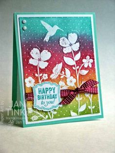 Wildflower Meadow Ombre Card by JanTInk - Cards and Paper Crafts at Splitcoaststampers