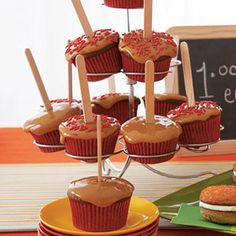 Check out our periodic table of cupcakes at Woman's Day. We've assembled 50 easy cupcake recipes grouped by category. Find cupcakes for any occasion. Apple Desserts, Apple Recipes, Fall Recipes, Holiday Desserts, Caramel Apple Cupcakes, Caramel Apples, Easy Cupcake Recipes, Dessert Recipes, Cupcake Ideas