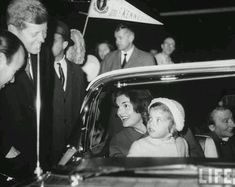 """camelotdaydreams: """" The Kennedys at an airport. 1960. """""""
