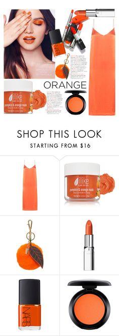 """Orange Crush"" by junglover ❤ liked on Polyvore featuring beauty, Ganni, Ilike Organic Skin Care, Dolce&Gabbana, RMK, NARS Cosmetics and MAC Cosmetics"