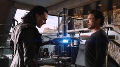 Tony and Loki in 'The Avengers'