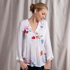 Love white, love tunics, love embroidery