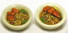 Oh my this polymer food looks like real !!!!  Chinese duck noodle soup: Kiva Atkinson via The Mini Food Blog